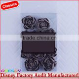 Disney Universal NBCU FAMA BSCI GSV Carrefour Factory Audit Manufacturer Opp Bag Blossom Burlap Rose Flowers With Dark Blue