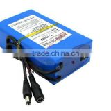 cctv lithium battery with 2000cycles 12v lithium ion battery pack for cctv camera, led strip battery pack 12v