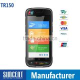 Touch screen mobile por top-up pos device with printer\barcode scanner\NFC\IC Card reader\Smartcard reader