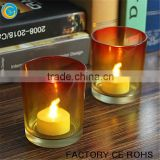 Gradient orange yellow color glass votive holders for candle making /vintage glass lamp shades