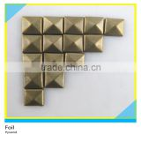 Brass Pyramid Studs Square 6mm/8mm/9mm Flatback Copper 9500 Pcs Package