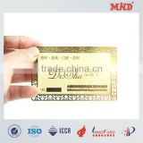 MDC033 stainless steel golden business card metal business card factory price