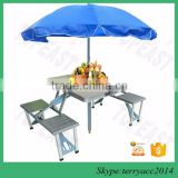 Hot Sale Folding Picnic Table Portable Umbrella Set Patio Outdoor Furniture Chair Bench