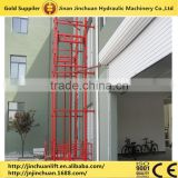 500KG Guide rail hoist chain cargo lift, warehouse hydraulic cargo lift