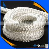 Wholesale white nylon PET polypropylene double braided dock line rope for ship and boat                                                                         Quality Choice