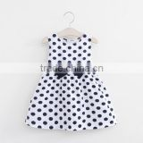 2016 Korean style children frocks design kids wear baby girl dot dress 2-6 years with factory price