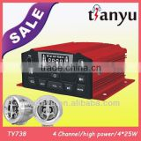 TYT737 made in china unique high quality with remote control gsm motorcycle alarm 4X15/25W long distance
