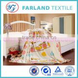children bed set cartoon printed flannel fleece fabric for baby blanket,ugg boots inside