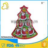 wholesale melamine dish plastic christmas tree shape tray