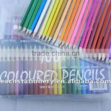 BSCI factory stationery 7'' promotional 100 pcs/set wooden hexagon colored pencil set+PVC box