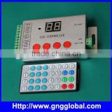 With IR remote panel 4outputs 2015 hot pixelsa led pixel flex ws2812b led strip pixel controller