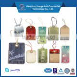 HAOGE factory price customized plastic/paper clothing hang tag