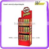 Supermarket floor 3 shelves display stand cardboard promotional corn flakes display shelf