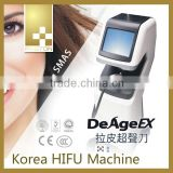 Eye Lines Removal 2014 New High Intensity Skin Tightening Focused Ultrasound Korea HIFU Machine Skin Rejuvenation