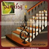 Interior Wrought Iron Railing Parts/ Prefab Metal Stair Railing