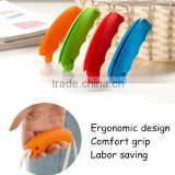 Colorful silicone grocery bag grip great carrier tool