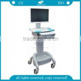 AG-WT002A Metal base hospital workstation computer trolley cart