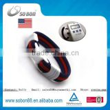 USA national flag sports fashion titanium baseball magnetic therapy bracelets wholesalers