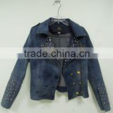 new arrival korean fashion high quality embroidered denim jacket women cheap,vintage denim jacket wholesale China