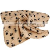 Hot Sale Pet Dog Blanket Paw Prints Soft Pet Mat Bed