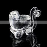 clear crystal baby carriage for souvenir