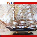Basswood handcraft gift&decor wooden sailing fishing boat craft