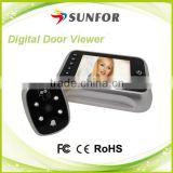 3.5 Inch Color Screen Wireless Hidden Video Peephole Door Camera Wireless With 4PCS AAAA Batteries