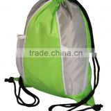 Promotion polyester & mesh drawstring bag backpack for wholesale                                                                                                         Supplier's Choice