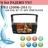 touch screen car dvd player fit for Mitsubishi Pajero V97 V93 2006 - 2011 with radio bluetooth gps tv