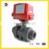 2 way DN50 2 inch motorized PVC ball valve price 220V 1.6MPA for home-automation system, swimming pool equipment