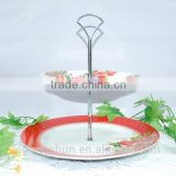 Cake stand souvenir plate in ceramic fruit plate