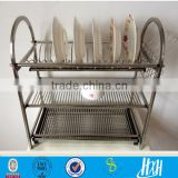 ISO Guangzhou factory stainless steel dish rack, 3 tier dish rack