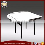 Good quality heavy duty folding dining room expandable round extending dining table