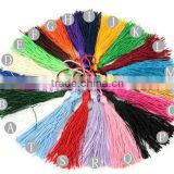 10PCS 7-9cm Handmade Silky Tassels Decoration Pendant Key Chains Bag Accessories