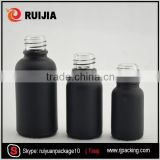 wholesale fancy frosted black bottle 10ml glass vials childproof dropper                                                                                                         Supplier's Choice