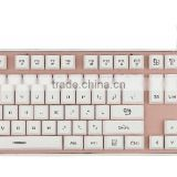 New Colorful LED Lighting Usb Wired Gaming Keyboard,Bi-color Injection Keycaps Gaming Keyboard