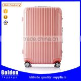 Popular leisure 20/24/28 inches waterproof trolley luggage, travel luggage in ABS PC materials