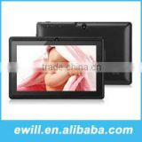 7 inch smart black Cheap tablet PC Q88 allwinner A13 chip ROM 4GB 1.2GHz Dual camera Android 4.0