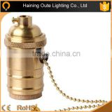 Metal Copper E27 B22 socket lampholder E27 &B22 unversal lamp socket with chain