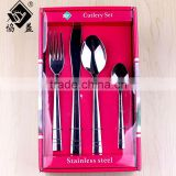 High Quality 24PCS Nice Gift Box Stainless Steel Plastic Handle Cutlery Set For Promotional Gift and Christmas Gift