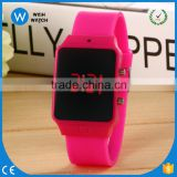 LED012/ China Wholesale Fashion Children Cool Unisex Square Dial Bracelet Wrist Watch Kids Best Gift Student Watches
