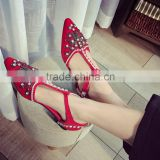 2016 new style ladies beautiful flat shoes for women pumps sexy wedding shoe dress shoes