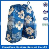 100% Polyester OEM custom design Colorful sublimation printed surf board shorts swimming trunk