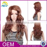 China cheap red/blonde fashionable kinky party wig fashion long lace front hair wig