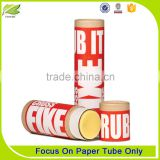 Colorful cosmetic paper tube for lip balm
