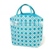 Summer Fancy Bamboo Style Print Jute Tote Bag