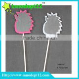 Non-woven hedgehog wooden blackboard garden plant label, flower garden stake decoration