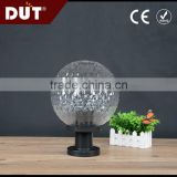 Waterproof Round Globe Fence Gutter Outdoor Garden plastic acrylic fence Lamp