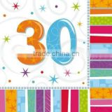 Adult Milestone Age Party Supplies /30th birthday party supplies Tableware and Decorations Radiant Birthday 30th Napkins