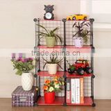 Metal Material Storage Organizer shoe shelf rack wall mounted book shelf/small bookshelf